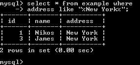 MySQL - People From New York