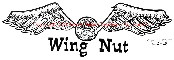Screw brain graphics new wing nut logo for Mckie wing roth home designs