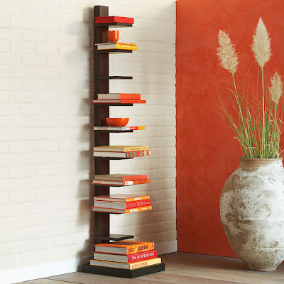 bookshelf spine wood bookcase