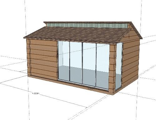 Shedworking: SketchUp: garden offices