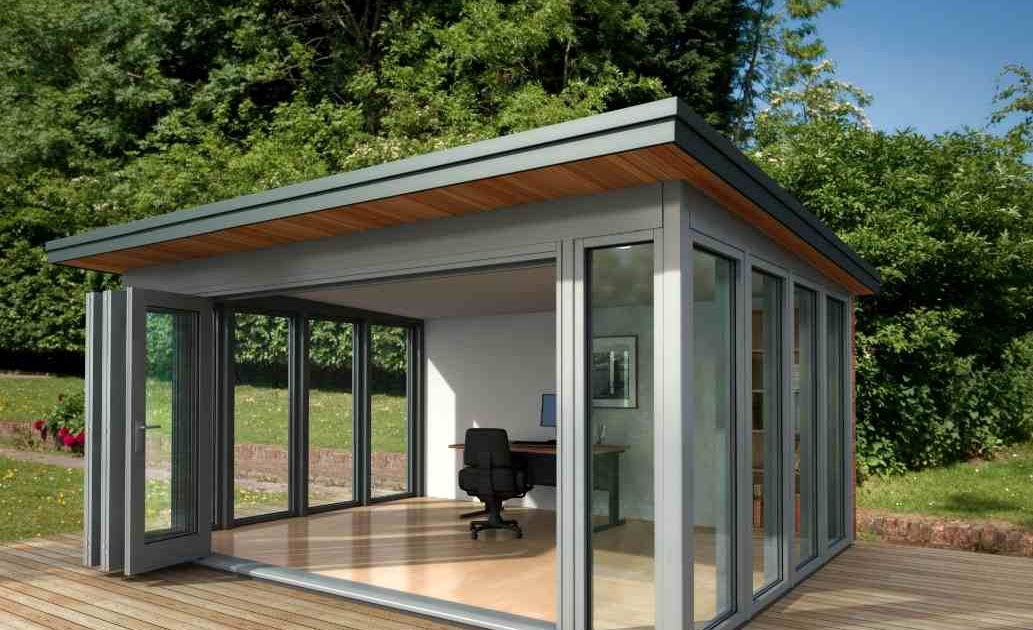 Shedworking glass garden office for Oeco garden office