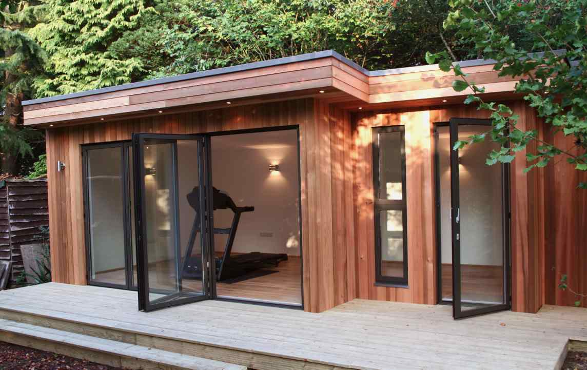 Shedworking shedworking out home gym for Garden office ideas uk