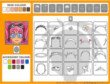 Click aquí para abrir anime face maker