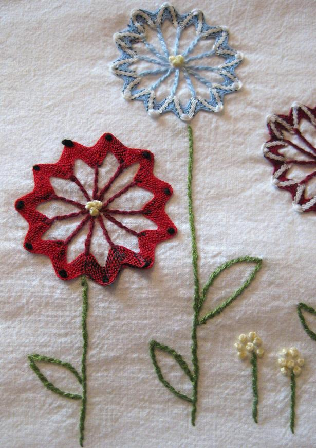 The handmade flower embroidery flowers