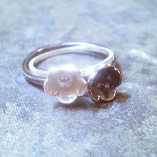 sterling silver bloom ring