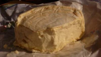 Image of a half kilo of happiness, an über creamy chunk of Brillat-Savarin...