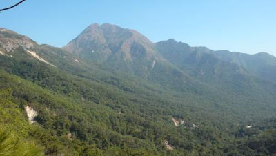 Image of landslides on Lantau Island, Hong Kong.