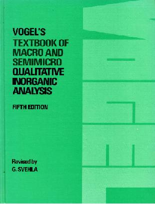 Vogel s textbook of quantitative chemical analysis in SearchWorks catalog