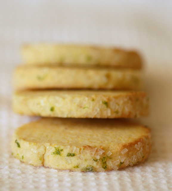 Half Baked: Lime Cornmeal Cookies