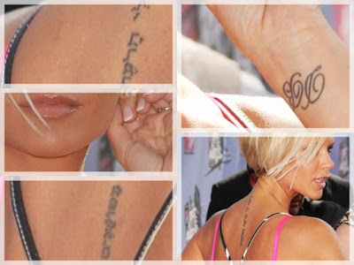 Victoria Beckham Tattoos. Victoria herself has once said that when anybody