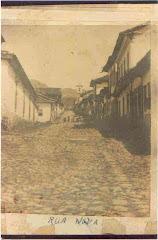 """Vista da Rua Dom Silvério antiga """"Rua Nova"""""""