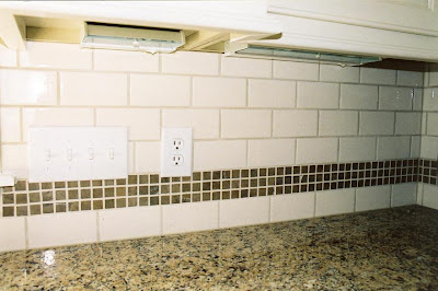 Curbly Recession Busters: Subway Tile Backsplash for Under Simple subway tile backsplash. Classic white, no liner tiles
