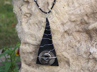 wizard necklace-recycled inner tube jewelry