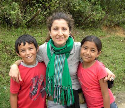 Con Brandon y Victoria en Belalcázar. En marzo, 2008