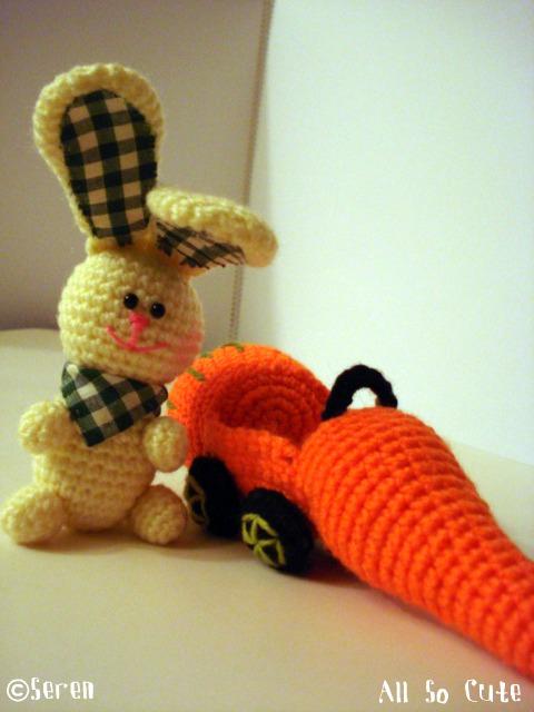 Amigurumi Carrot : AllSoCute Amigurumis: Amigurumi Bunny with A Carrot Car ...