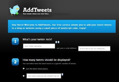 Add Tweets - Twitter Tracking Web Application