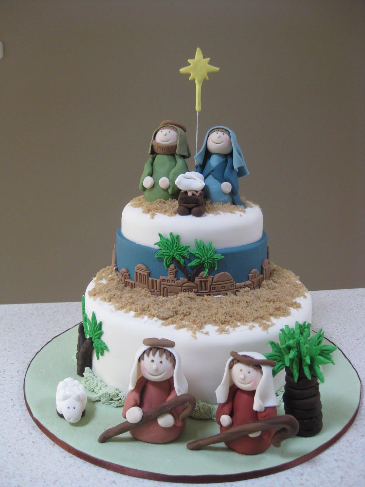 Nativity Christmas Cake Design : Christmas Cakes on Pinterest Snowman Cake, Winter Cakes ...