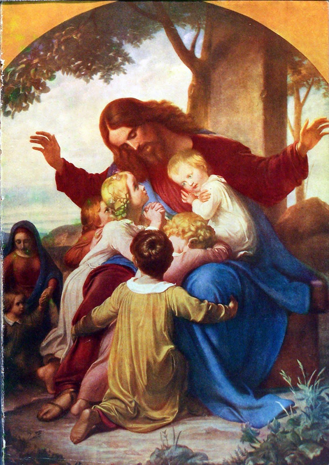 jesus by paulachan 56 jesus with children