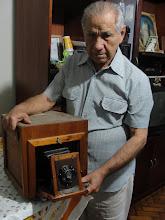 Sr. Francisco fotógrafo artezanal do Largo do Machado