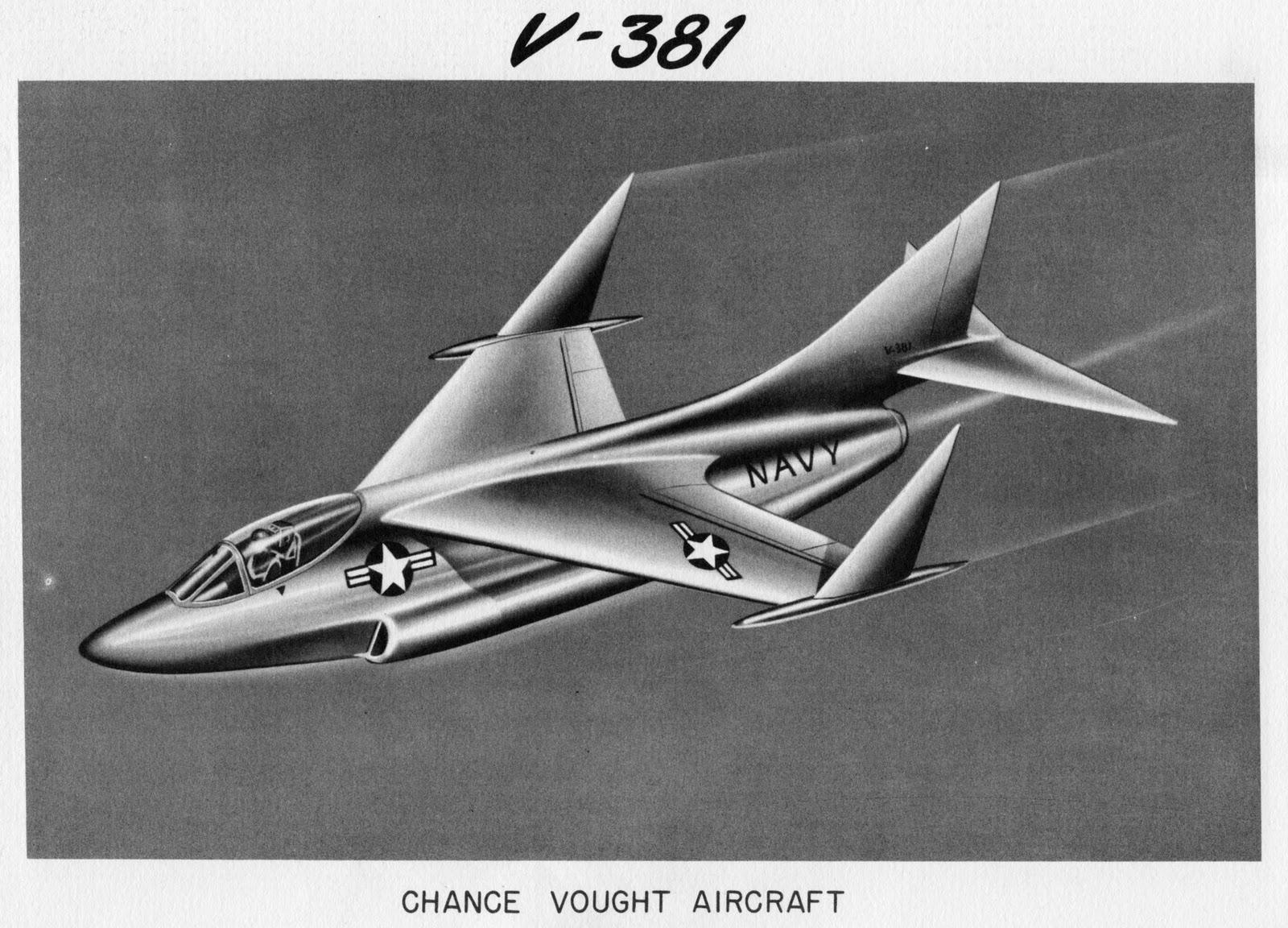 Avions 1950's, futuristes et vaisseaux spaciaux - Vintage Spaceships, Starships and futuristic planes.  Vought+381+A3U