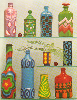 Craft Ideas Glass Bottles on Retro Crafts Painted Bottles Jafabrit Jpg