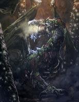 дракон зомби в магической пещере
