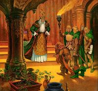гном Торин перед королём эльфов