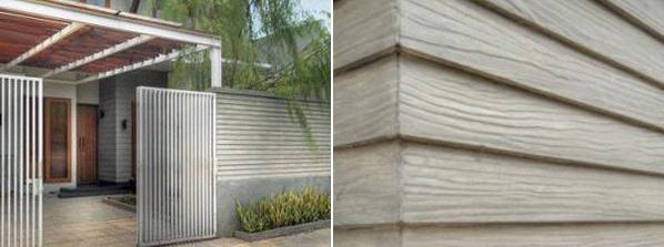 embok pagar terbuat dari bata finishing kamprot. Bagian atasnya