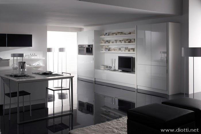 Arredamenti diotti a f il blog su mobili ed arredamento d 39 interni uno stand firmato diotti al - Cucina moderna bianca ...