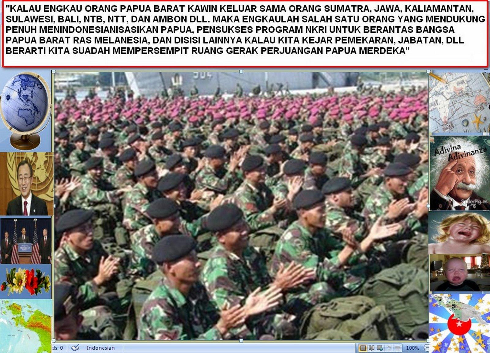 INTELIJENSI INDONESIA TERHADAP  POLITIK PAPUA