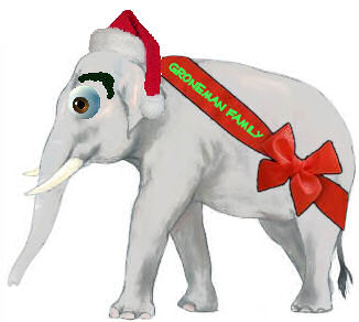 And white elephant gift exchange will be held 3 00 pm christmas day