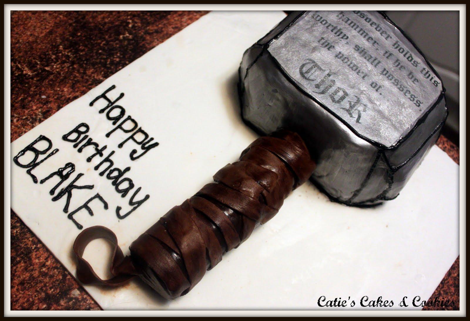 Caties Cakes Cookies Thors Hammer