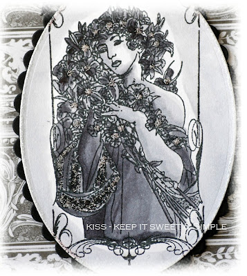 How stunning is this Art Nouveau lady I got a couple of these beautiful