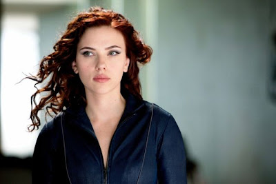 Scarlett Johansson in Iron Man 2 American Superhero Movie Photoshoot Session