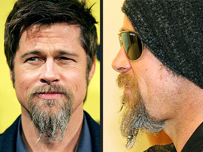 taken to braiding his beard. On another note – Brad Pitt and partner,