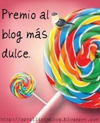 Premio al blog más dulce.