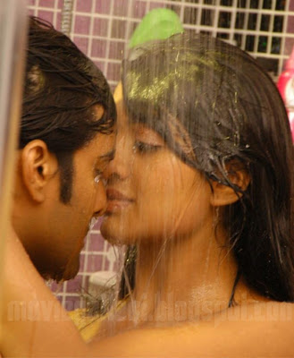 Hot Kiss In Bathroom