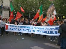 No desfile do 1º de Maio em Paris