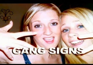 white chicks and gang signs