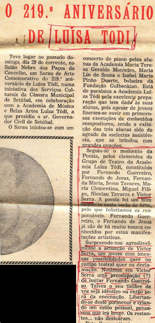 1º RECITAL POESIA de :