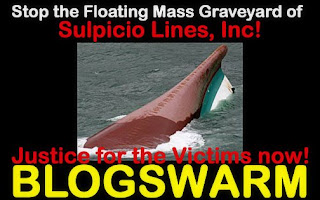 BLOGSWARM to Stop Sulpicio Lines Floating Mass Graveyards