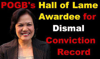 Merceditas Gutierrez, POGB Hall of Lame Awardee