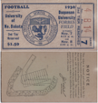 1930 Duquesne Ticket