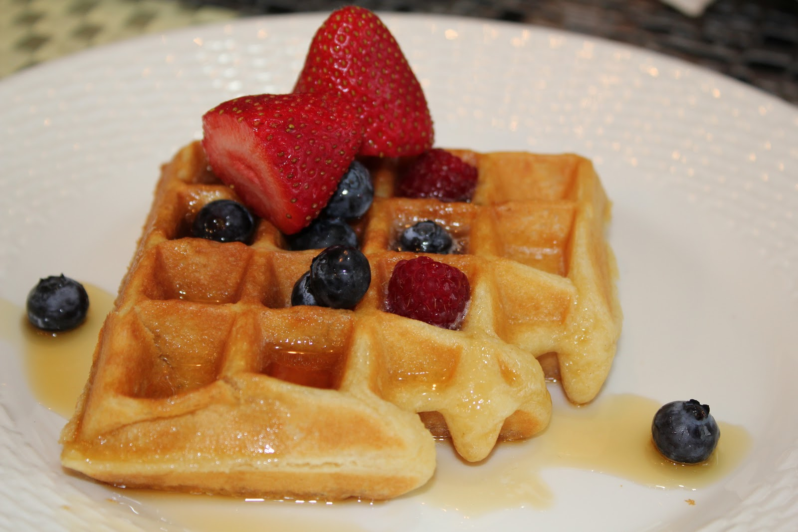 forks amusement dreamy sour cream waffles. Black Bedroom Furniture Sets. Home Design Ideas