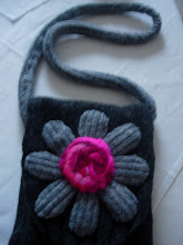 bag made from felted jumper