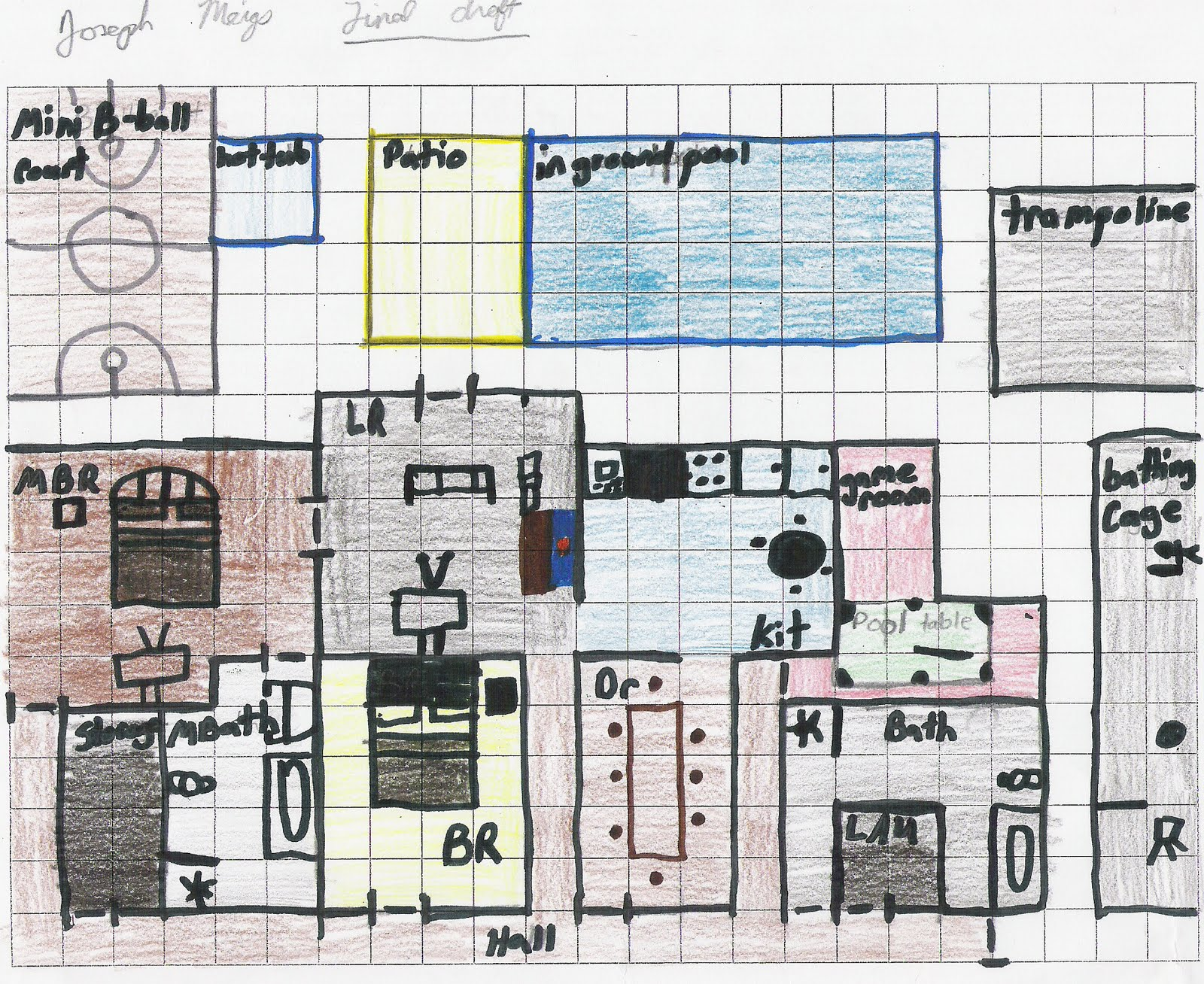 Cms 6th grade math dream house project samples for House projects plans