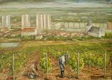Práca vo vinohrade - drôtenke