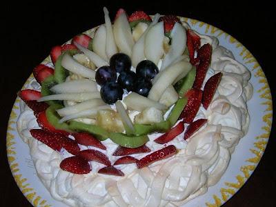 Merengue con frutas