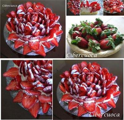 Como hacer Frutillas con Crema Rosada