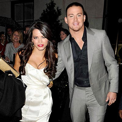 jenna dewan and channing tatum kissing. Channing Tatum steps out with